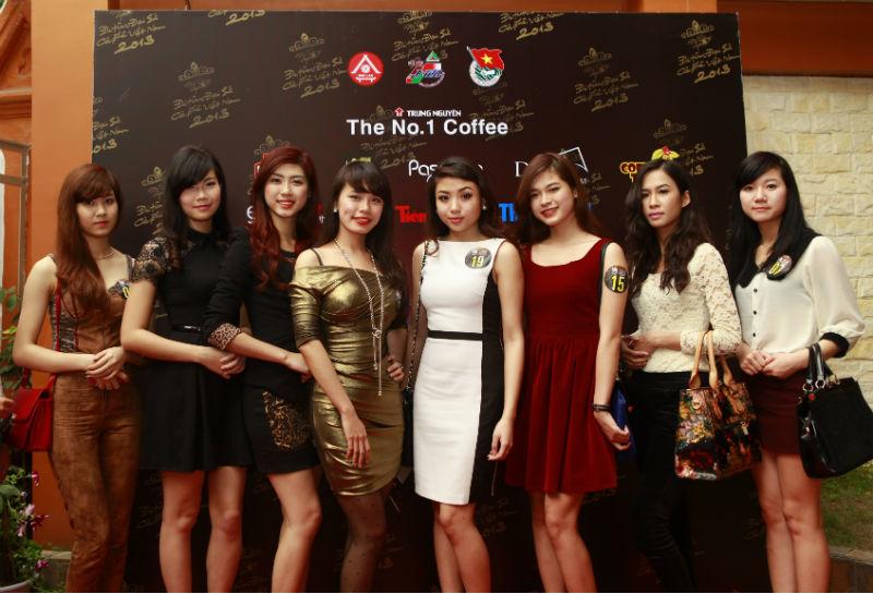 Vẻ đẹp rạng ngời của các ứng viên Đại sứ cà phê