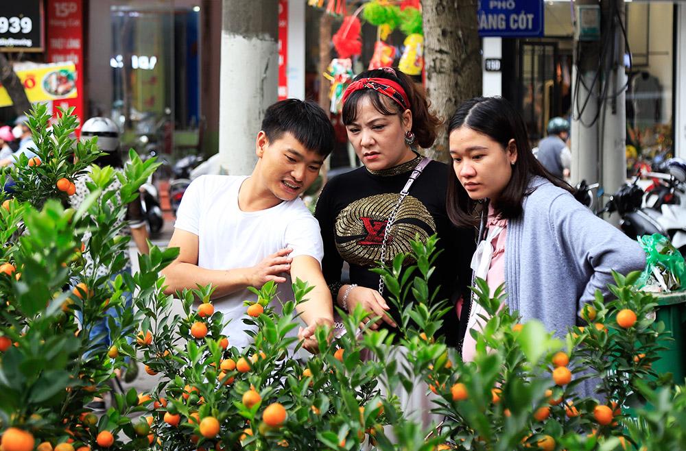 Nhộn nhịp chợ hoa Tết truyền thống